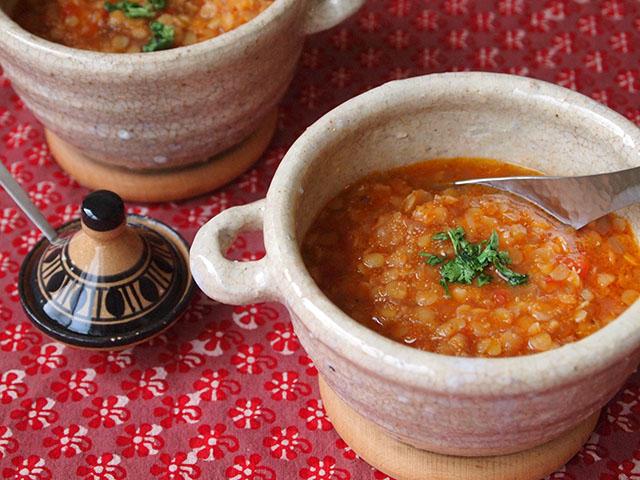 赤アマランサスの赤いものスープ