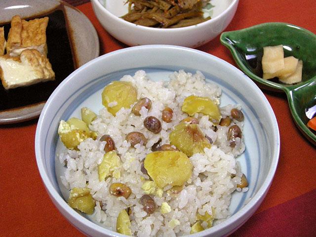 青大豆の奈良茶飯