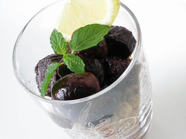 紫花豆といちじくの赤ワイン煮