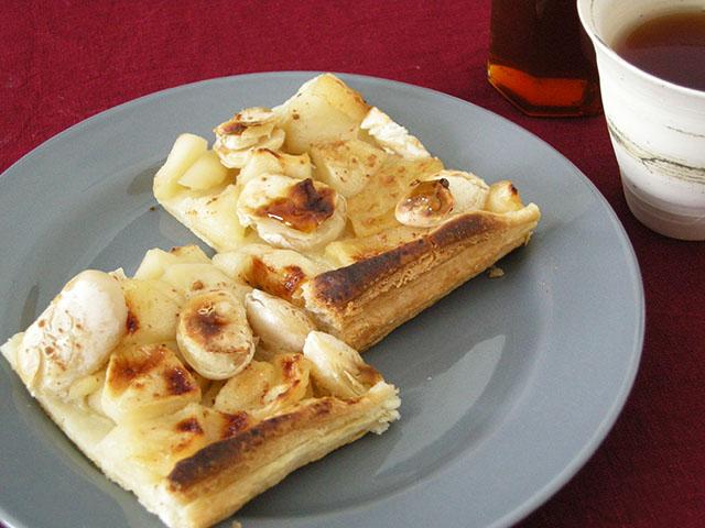 白花豆とりんごのパイ