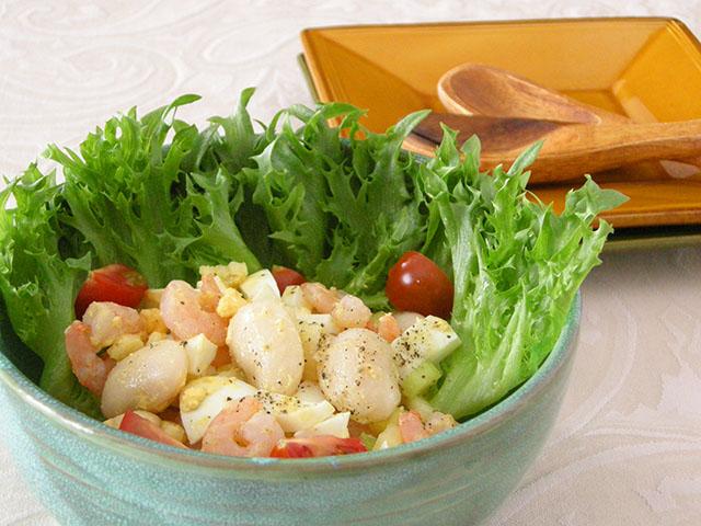 白花豆のシュリンプサラダ