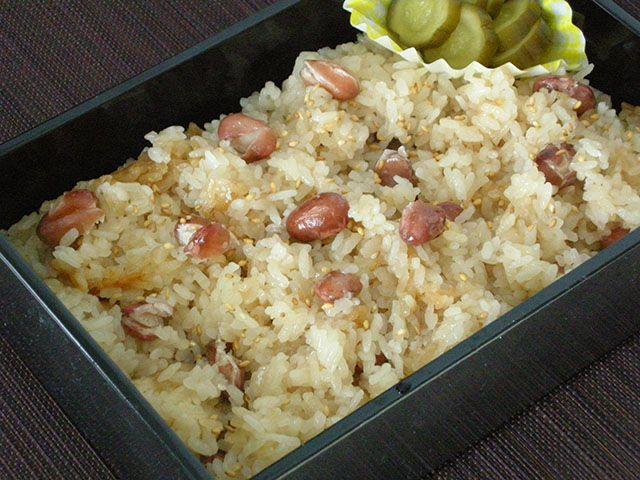 金時豆の長岡赤飯